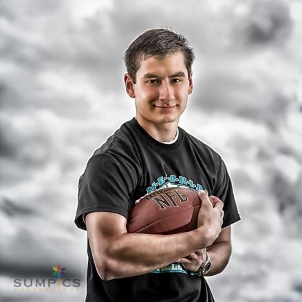 football senior portrait